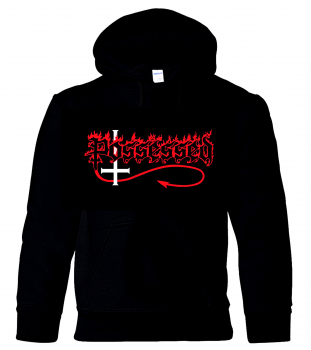 "POSSESSED ""Seven Churches Logo"" Hooded Sweatshirt + FREE PATCH ""Death Metal"""