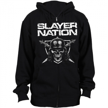 "SLAYER ""Slayer -Nation"" Zipperjacket (with hood)"