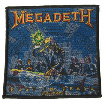 "MEGADETH ""Rust In Peace"" woven patch"