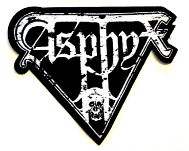 "ASPHYX ""Distorted Logo"" (white) iron on patch"