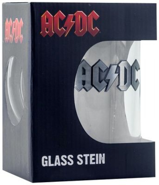"AC/DC ""Bandlogo"" Beermug with metal application (0.5 l)"
